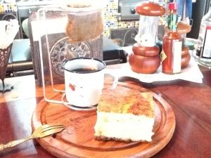bolo com cafe